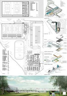 Súťažný panel č. 1 - - Súťažný panel č. 1 Sport center Súťažný panel č. Stadium Architecture, Architecture Plan, Factory Architecture, Desktop Wallpaper 1920x1080, Gym Plans, Mix Use Building, Youth Center, Sports Complex, Sport Outfits