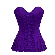Purple Bow Front Corset with Pleated Sides | SALE