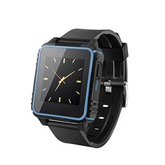 Waterproof Smart Watch,Bluetooth Watch Wrist Watch Phone with SIM Card Slot and NFC for Android and ios Smartphones (Blue frame) -- Continue to the product at the image link.