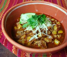 Mexican Pasole ( A celebratory dish that is a Pork & Hominy Stew) Delicious warming dish that you will long for once you try it! - not slow cooker recipe Pork Recipes, Slow Cooker Recipes, Cooking Recipes, Posole Recipes, Healthy Recipes, Mexican Dishes, Mexican Food Recipes, Pork Posole, Soup And Sandwich
