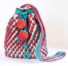 Ravelry: Strawberry Drawstring Crochet Bag pattern by Iin Wibisono