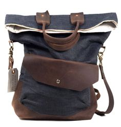 Boutonne fold top messenger.  From Manready Mercantile, Houston, Texas.