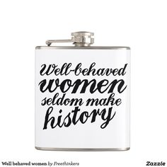 Well behaved women hip flask gift for women who like whiskey!