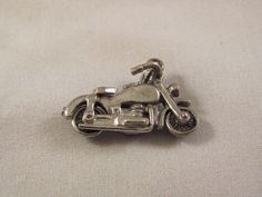 Articulated Motorcycle Charm Sterling Silver Detailed Vintage.