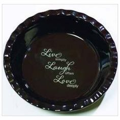 Abbey Press 40732X Pie Plate Deep Dish Live Laugh Love - Join the Pricefalls family - Pricefalls.com