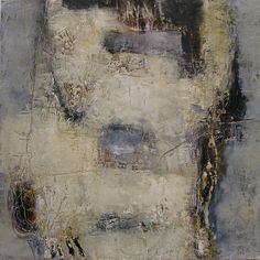 Her PHD Justified, by Jeane Myers oil and cold wax on panel, 24x24 www.jeanemyers.com