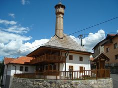 Tuzla (Vaiz Mehmed Ali-efendijina (Mejdanska) džamija). It was built by Jalal Vaiz Mehmed Ali ef., 1644 . One of the oldest surviving mosque with a wooden minaret on the territory of South Europe. Preserved over 360 years and is a true rarity in these part of world.