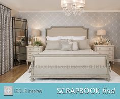 My SCRAPBOOK find: Like a well-tailored suit, custom bedding makes all the difference in how we address our mornings.