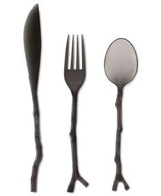 For your registry!  MADHOUSE by Michael Aram Black Tritan Twig 12-Piece Flatware Set