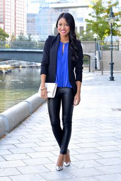 {cobalt pleats & faux leather} Shoes and Leather ::::)))))