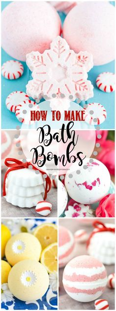 HOW TO MAKE BATH BOMBS – create your own bath bombs at home with this easy video tutorial and recipe!
