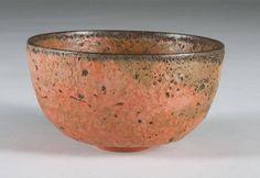 Gertrud and Otto Natzler Bowl having Orange/red