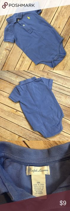 {Ralph Lauren} 9M Polo Onesie Good condition. Pet and Smoke Free Home. Bundle and save! Ralph Lauren One Pieces Bodysuits