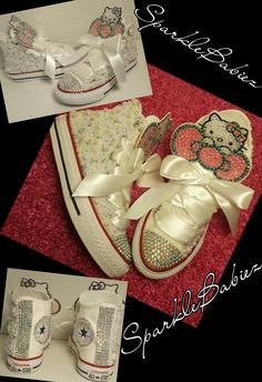 Custom Bling   Pearl Hello Kitty Converse Chuck Taylor e3962671b