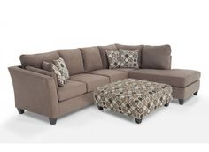 Venus 4 Piece Right Arm Facing Innerspring Sleeper Sectional | Sleeper sectional 4). and Venus  sc 1 st  Pinterest : bobs luna sectional - Sectionals, Sofas & Couches