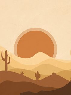 Warm Desert Sun Art Print by Essentially Nomadic - X-Small Cute Patterns Wallpaper, Aztec Pattern Wallpaper, Desert Art, Desert Design, Easy Canvas Art, Sun Art, Minimalist Art, Aesthetic Art, Art Inspo