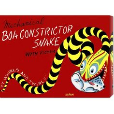 Boa Constrictor Snake with Victim: 18 x 24 Canvas Giclees, Wall Art