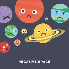 'Negative Space' by Punny Pixels, an illustrated series of visual puns.