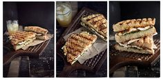 Parmesan and sesame seed-crusted sandwich