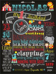 Customized Chalkboard First Second Third by BestDayEverGraphics