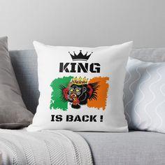 #thekingisback #conormcgregor #ufc #mma #findyourthing #shirtsonline #trends #riveofficial #favouriteshirts  #art #style #design #shopping #redbubble #digitalart #design #fashion #phonecases #customproducts #onlineshopping #accessories #shoponline #onlinestore Conor Mcgregor, Designer Throw Pillows, Pillow Design, Ufc, King, Trends, Store, Accessories, Shopping