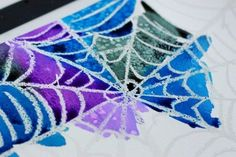 Check out this simple spider web art project using watercolor techniques, watercolor resist, and salt. Fun for preschoolers, older kids, and adults!