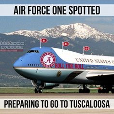 Alabama vs LSU Alabama Vs, Alabama Football, Alabama Crimson Tide, Lsu, Air Force Ones, Roll Tide, To Go, United States, Air Force 1