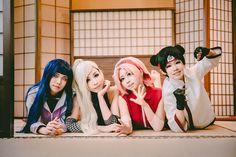 Naruto Hinata and Sakura and Tenten and Ino Yamanaka Cosplay Photo - WorldCosplay on We Heart It Hinata Hyuga, Tenten Y Neji, Sarada Uchiha, Boruto, Naruto Uzumaki, Cosplay Anime, Naruto Cosplay, Cosplay Makeup, Anime Neko