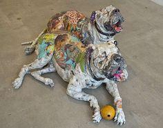 This Art Installation by Will Kurtz Features Creative Dog Displays #newspaper trendhunter.com
