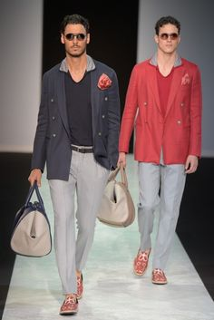 Giorgio Armani Men's -Spring 2014/ love that grey ensemble. So masculine. In love with the style.