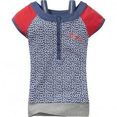 Chaos and Order Shirt navy, kinderkleding meisjes zomer