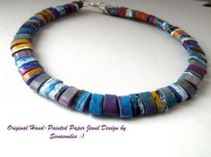 -necklace paper beads