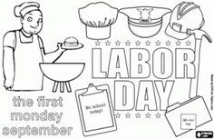 18 en iyi Labor Day Coloring Pages görüntüsü | Coloring pages for ...