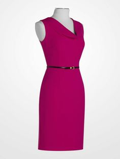 ef3a11b173d Calvin Klein Magenta Cowlneck Dress  59.99  pink  fuchsia  belt  cowl   sleeveless  sheath  weartowork  designer  womens  deal  fashion