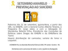 Jornalista Denise Machado: Evento Setembro Amarelo - Prevenção ao Suicídio na...