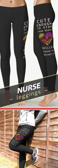 <3 Love These Nurse Leggings / Yoga Pants! Only Available at YouStatement.com!