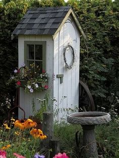 Shed DIY - Garden Sheds - this post has lots of clever shed ideas - different styles and materials used - via FleaChic - Flea Market Savvy Now You Can Build ANY Shed In A Weekend Even If You've Zero Woodworking Experience! Unique Garden, Garden Art, Garden Tools, Small Garden Tool Shed, Side Garden, Garden Oasis, Easy Garden, Potting Sheds, Potting Benches
