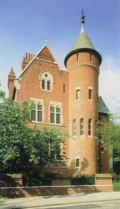 The Tower House, Kensington. William Burges (1827-81) was an English architect and designer. Amongst the greatest of the Victorian art-architects, he sought in his work to escape from both 19th-century industrialisation and the Neo-Classical architectural style and to restore the architectural and social values of a utopian mediaeval England. Burges stands within the tradition of the Gothic Revival, and his works echo those of the Pre-Raphaelites and herald those of the Arts and Crafts…