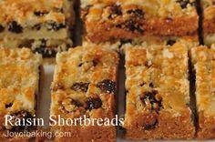 Raisin Shortbreads Recipe