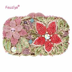 Fawziya Famous Designer Brand Bags Women Leather Handbags Flower Purses For Girls Handbags Evening Bags And Cutches