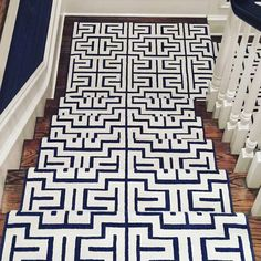 Stark Carabello in Cobalt Blue from Tobi Fairley Interior Design stair runner #drdstairrunner