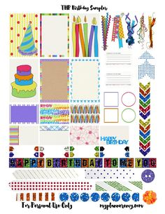 Free Printable Birthday Sampler for the MAMBI Happy Planner