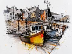 "1,139 Likes, 6 Comments - Fennelly Art (@ianfennelly) on Instagram: ""Scotland #crail #harbour #usk #sketch #sketchbook #fishingboat #urbansketching #quayside #pen…"""