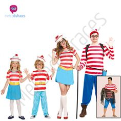 Disfraces para grupos Wally En mercadisfraces tu tienda de disfraces online, aquí podrás comprar tus disfraces para Carnaval o cualquier fiesta temática. Para mas info contacta con nosotros http://mercadisfraces.es/disfraces-para-grupos/?p=7
