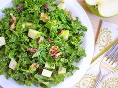 Apple Dijon Kale salad - healthy in every way.