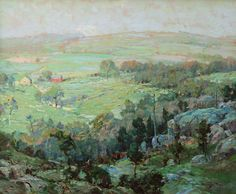 """""""Lyme Hills,"""" Chauncey Foster Ryder, oil on canvas, 25 x 30"""", The Cooley Gallery."""