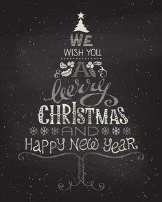 Vector - Chalk abstract Christmas tree on blackboard background.