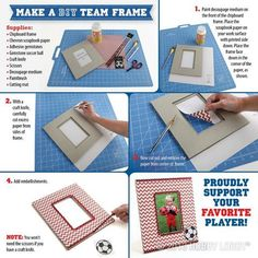 Never let them forget their team! Get together with your player and create a personalized frame, just waiting for their picture to fill it!