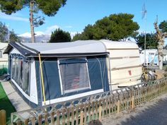 Bargain Tabbert Caravan Stil Awning Situated On A Quiet Section One Of The Longest