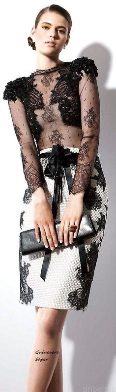 Rosamaria G Frangini | LaceWay by Vanda | Black&White Desire